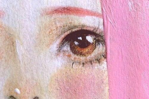 donna dai capelli rosa mondo di spilli