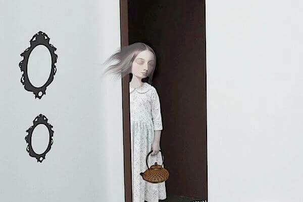 donna-su-uscio-porta-a-rappresentare-lentrata-della-depressione