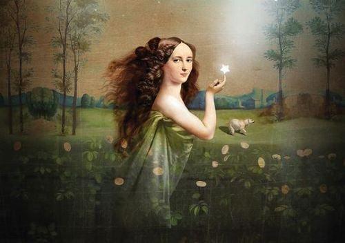 donna con stella in mano