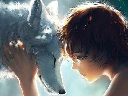 ragazzo e lupo