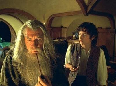 Gandalf e Frodo