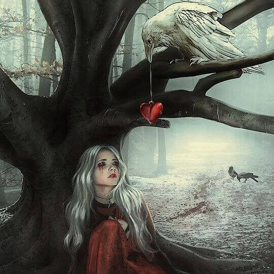 ragazza sotto un albero