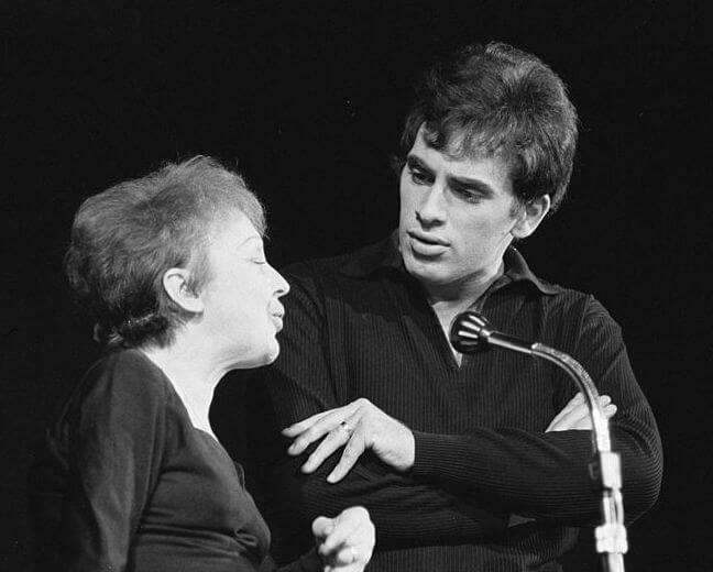 Edith piaf con Theo Sarapo
