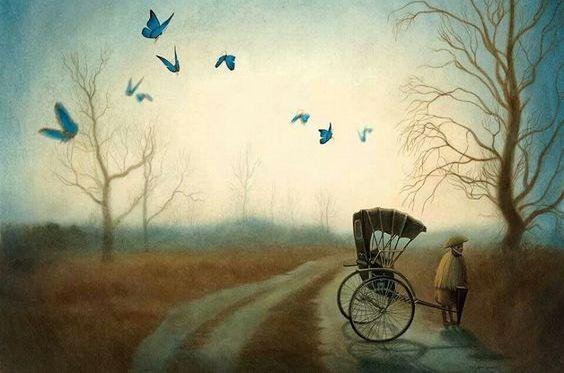 carrozza-per-strada-con-farfalle