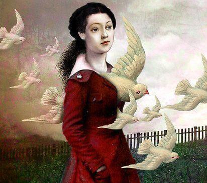 donna con colombe