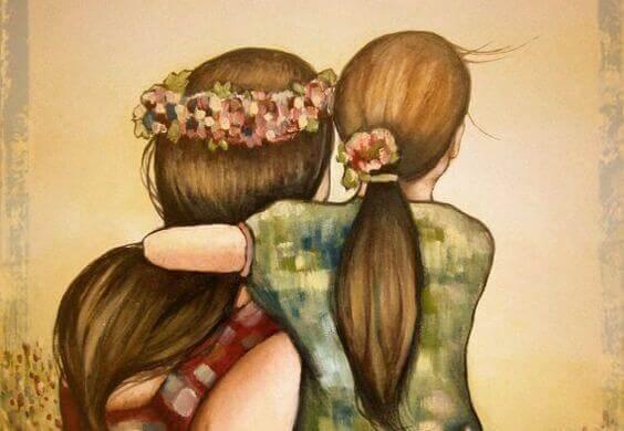 ragazze abbraccio