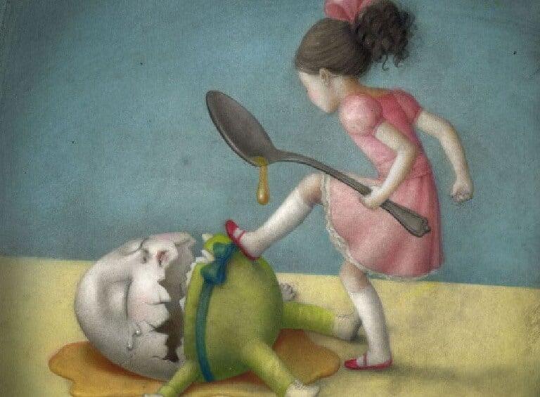 Bambina-distrugge-un-uovo