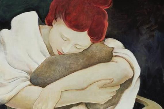 donna-abbraccia-gatto