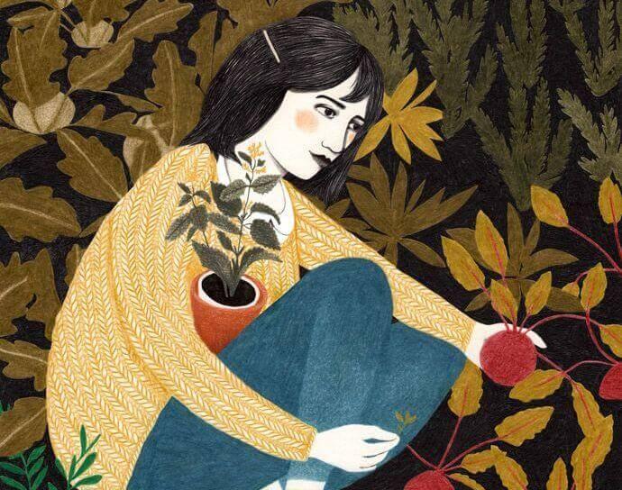donna-in-giardino