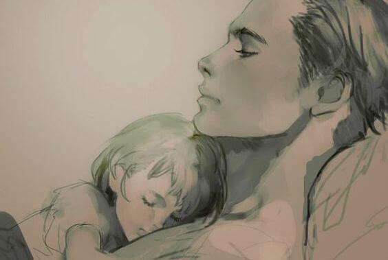 padre abbraccia figlia