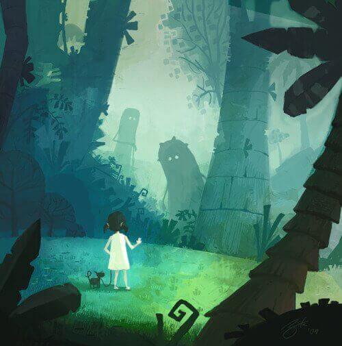 ragazza nella giungla