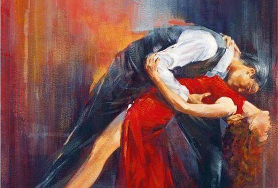 uomo e donna ballano