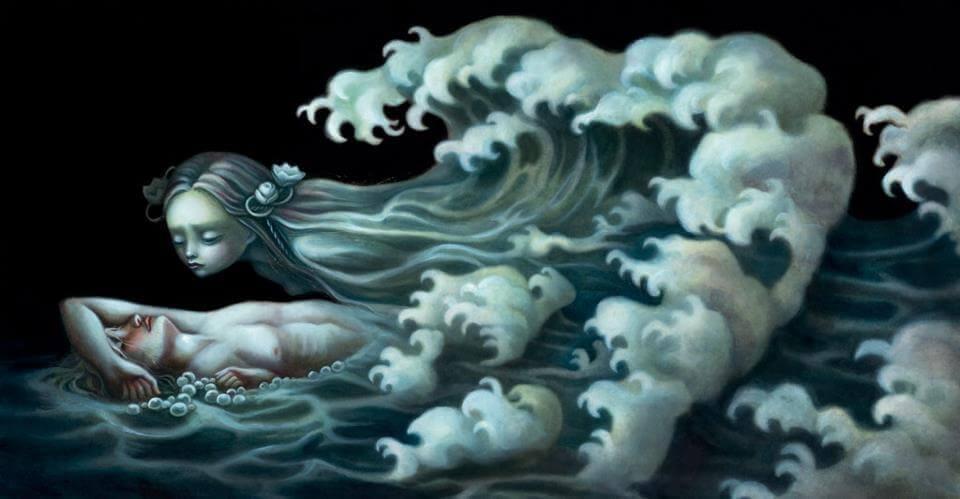 vento stilizzato in immagine di uomo e donna
