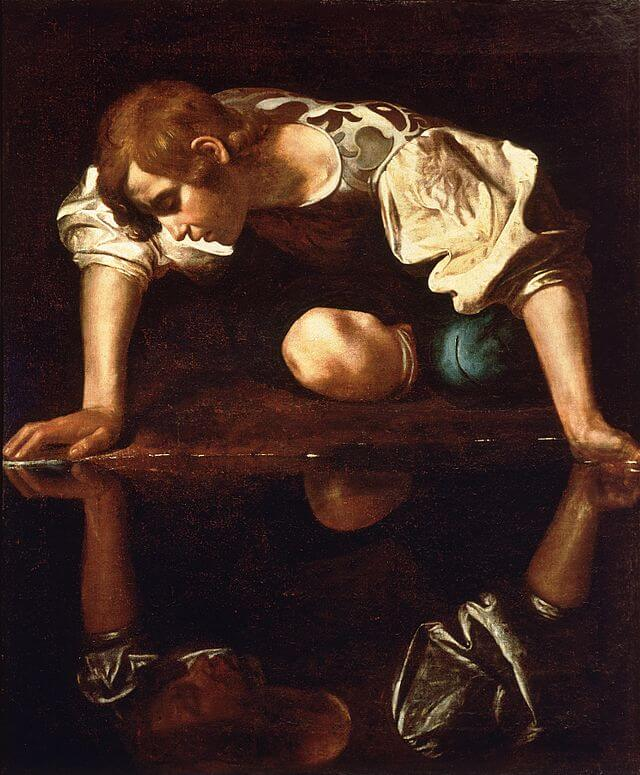 Narciso-si-specchia-nell'acqua