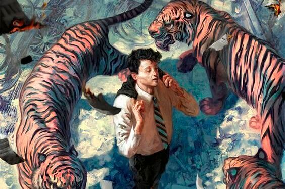 Uomo-circondato-da-tigri