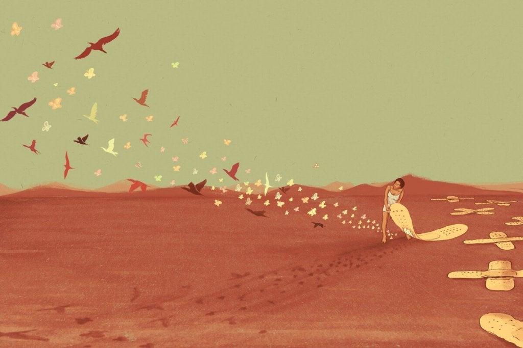 donna cerotti e uccelli