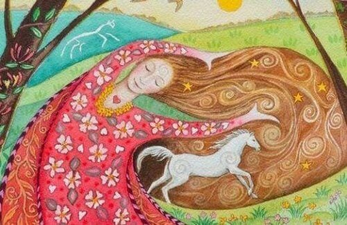 donna con cavallo