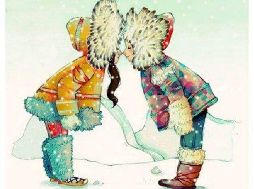 bacio tra eschimesi