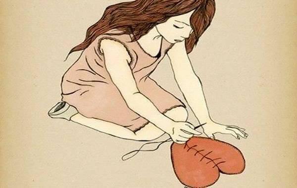 ragazza ricuce cuore