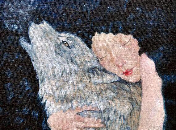 donna-con-lupo