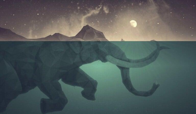 elefante-sotto-lacqua