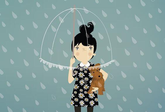 Ragazza-arrabbiata-sotto-la-pioggia