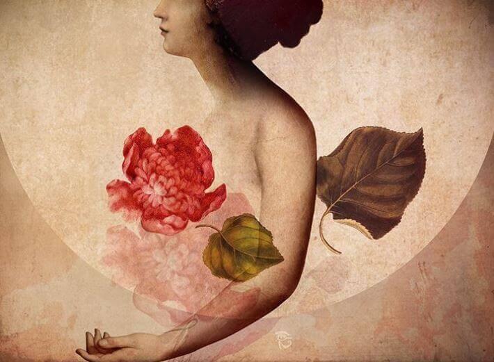 Ragazza-con-un-fiore-al-posto-del-cuore