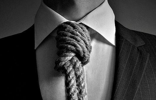 cravatta a forma di corda