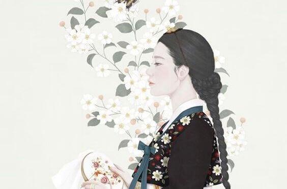 donna con vestito tradizionale