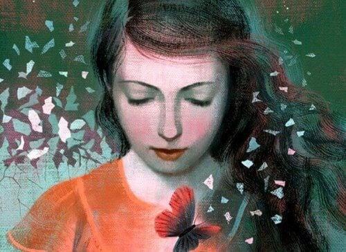 ragazza con farfalla