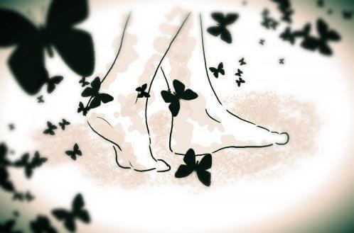 piedi e farfalle
