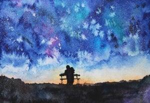 coppia seduta su una panchina