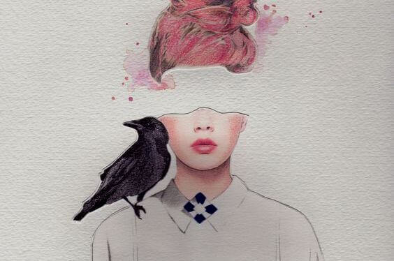 donna-con-corvo