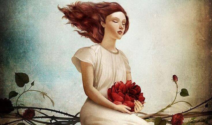donna-con-fiori