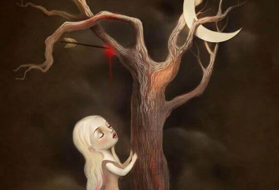 donna-poggia-le-mani-su-albero-del-tempo