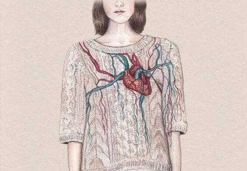 cuore corpo ragazza