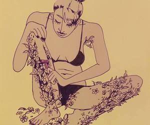 ragazza che si rade fiori dalle gambe