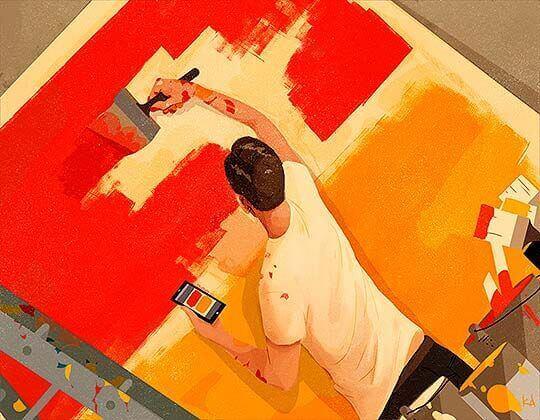 uomo-che-dipinge