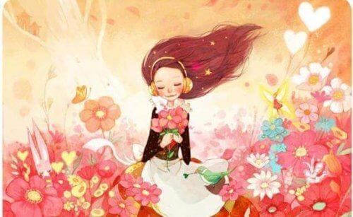 bambina-che-ascolta-musica-in-un-campo-di-fiori