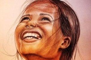 bambina sorride persone felici