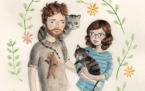 coppia-con-i-propri-gatti