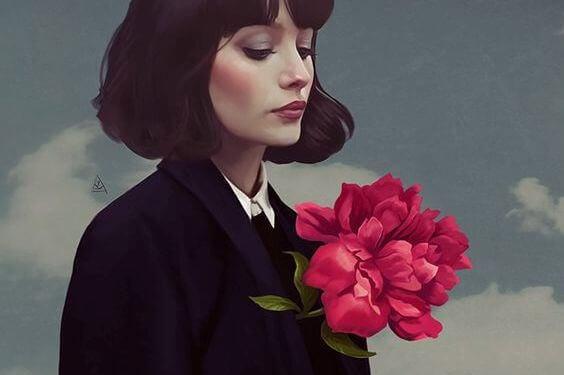 donna-con-fiori-petto