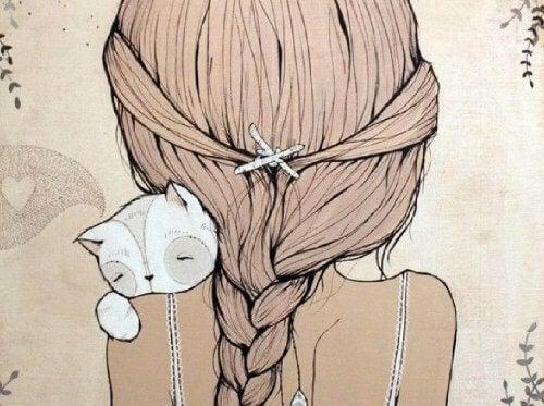 donna-con-un-gatto