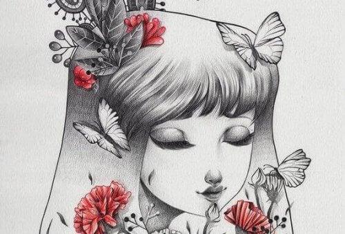 ragazza-con-farfalle-sui-capelli