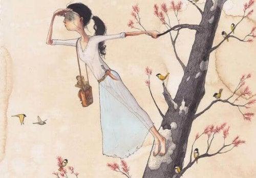 ragazza-guarda-lorizzonte-da-un-albero