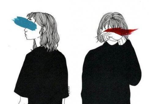 immagine ragazze con occhi cancellati