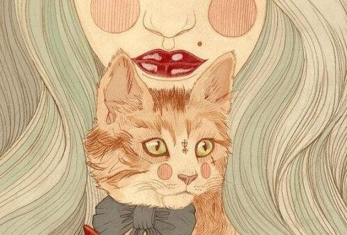 donna-e-gatto