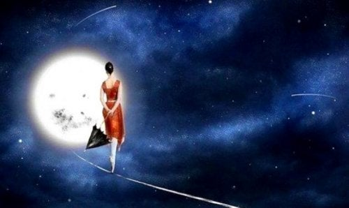 ragazza-cammina-su-una-scia-di-luce-nel-cielo