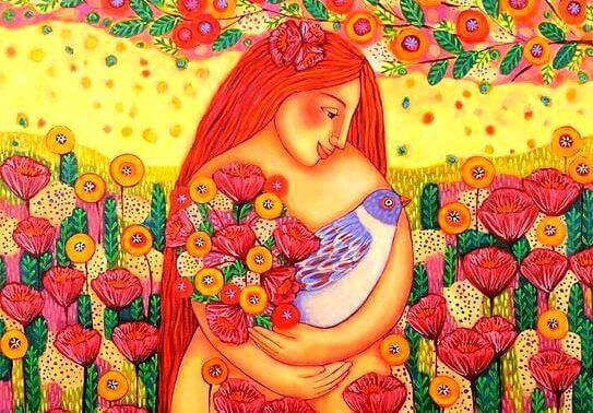 donna-in-un-campo-di-fiori