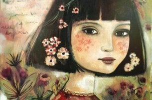 mondo ragazza e fiori